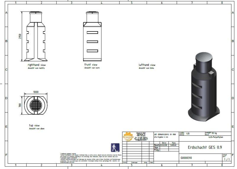 Pumpenschacht für PKA ELSA und Clearfox